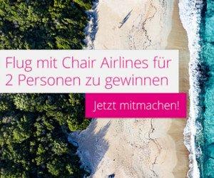 Chair Airlines Flüge gewinnen