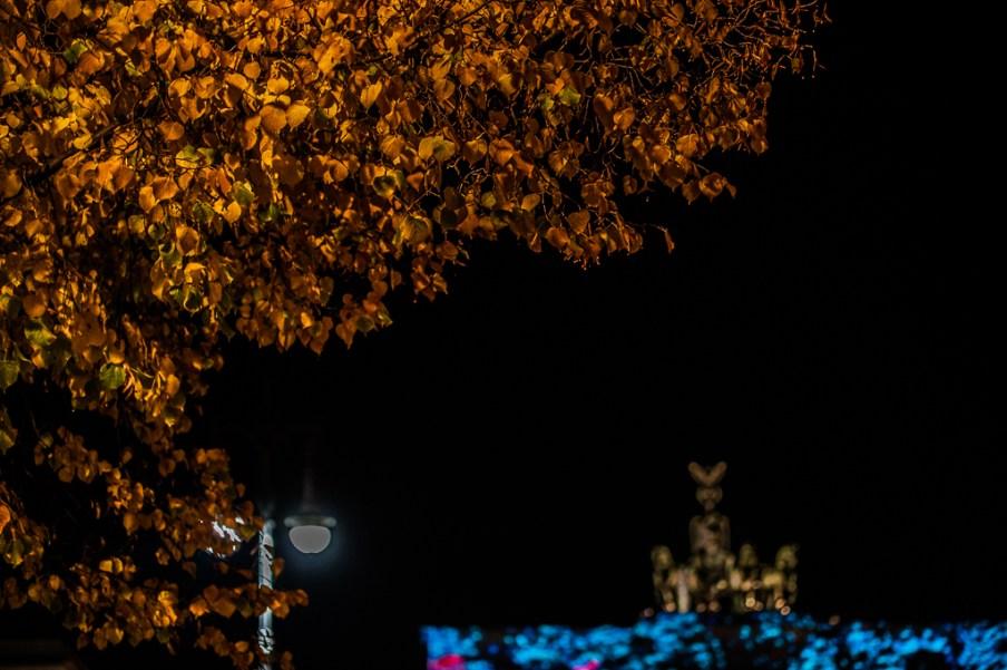 Festival of lights: Herbstfarben am Brandenburger Tor