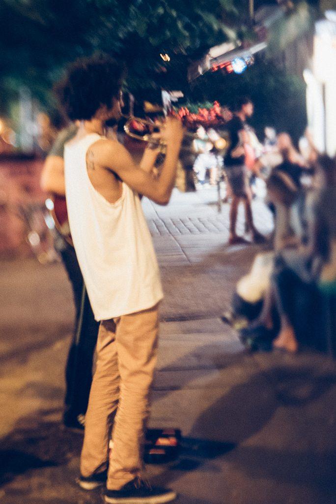 Straßenmusiker am Prenzlauer Berg, Berlin