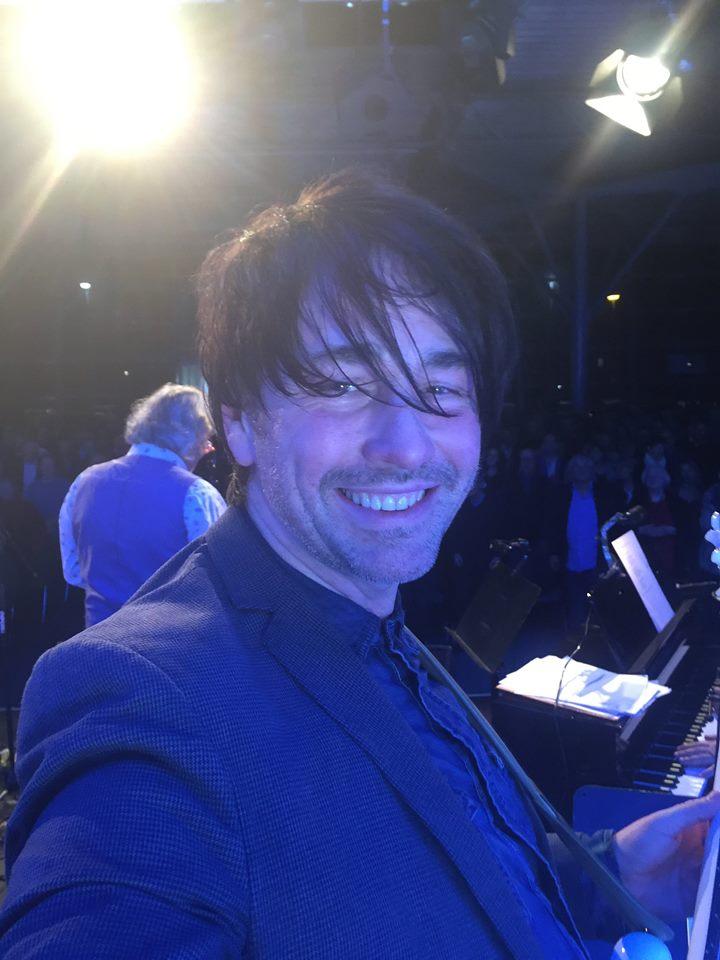Nacht der Lieder - selfie on stage