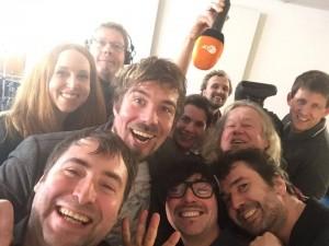 """die Gohlke-Band und das nette Team vom ZDF sagen """"gudn Aaaaaabnd!"""""""