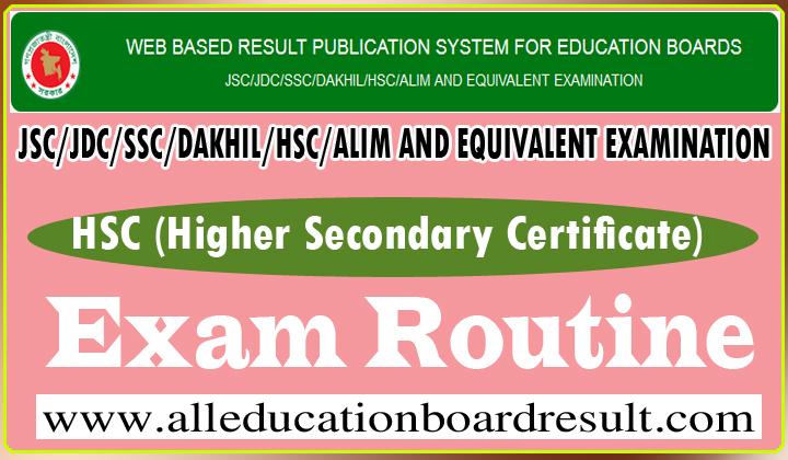 HSC Exam Routine Education Board Bangladesh