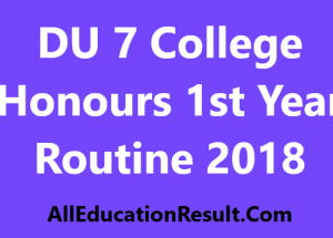 DU 7 College Honours 1st Year Routine 2018
