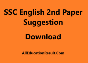 SSC English 2nd Paper Suggestion 2020