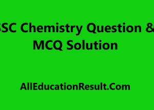 SSC Chemistry Question Solution 2019