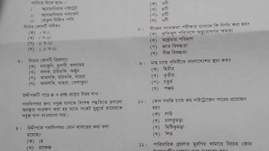 SSC Agricultural Studies MCQ Question 2020 Answer
