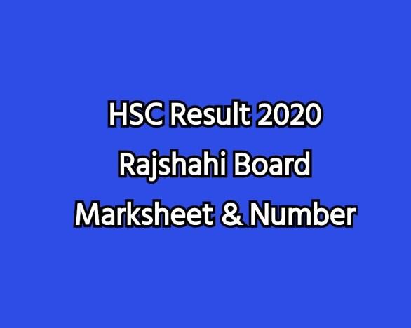 HSC Result 2020 Rajshahi Board