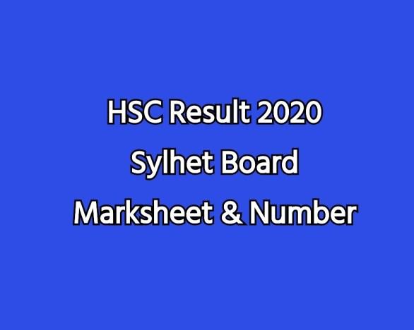 HSC Result 2020 Sylhet Board Marksheet