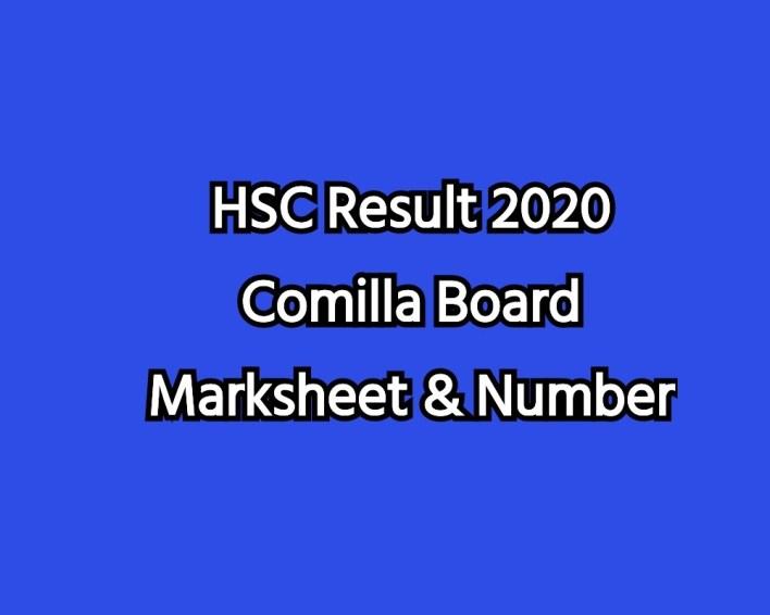 HSC Result 2020 Comilla Board Marksheet