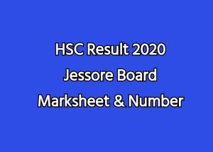 HSC Result 2020 Jessore Board Marksheet