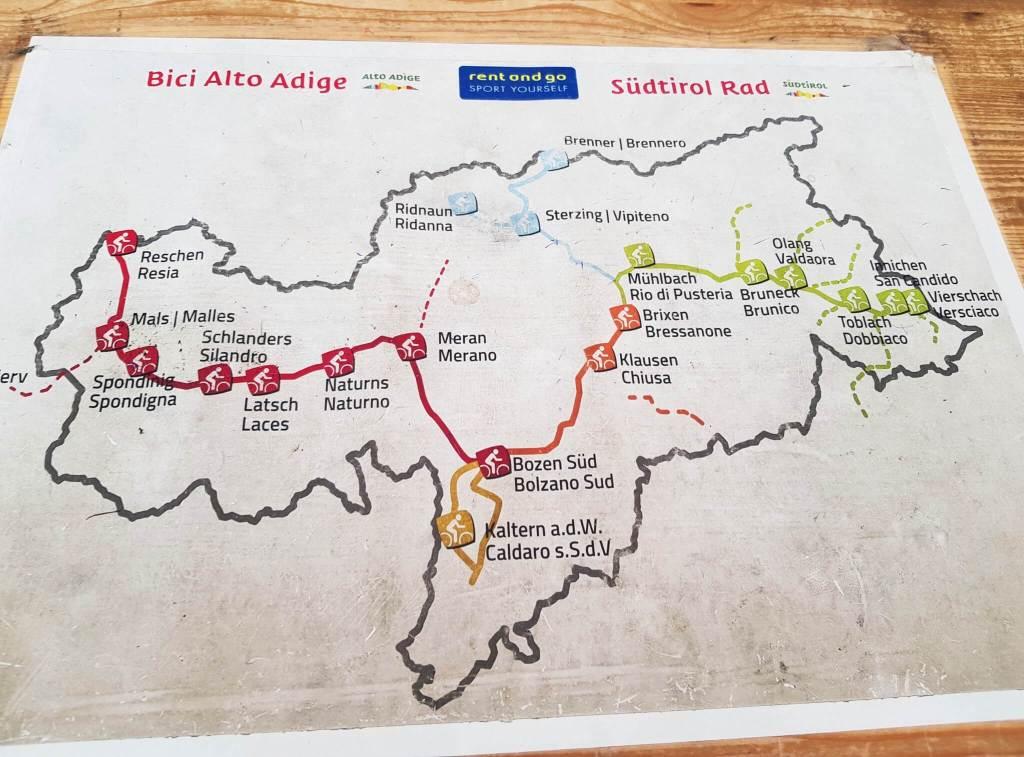 fietsroutes Zuid TIrol