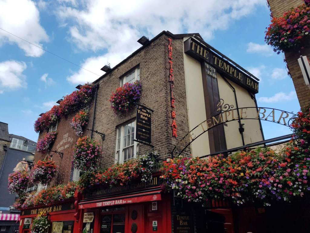 De beroemde Temple Bar in Dublin