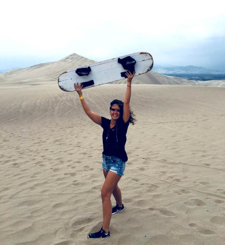 Sandboarden Huacachina in Peru
