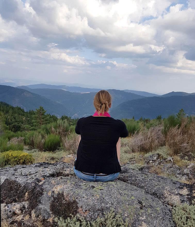 Mooie vergezichten in natuurpark Serra da Estrela in Portugal