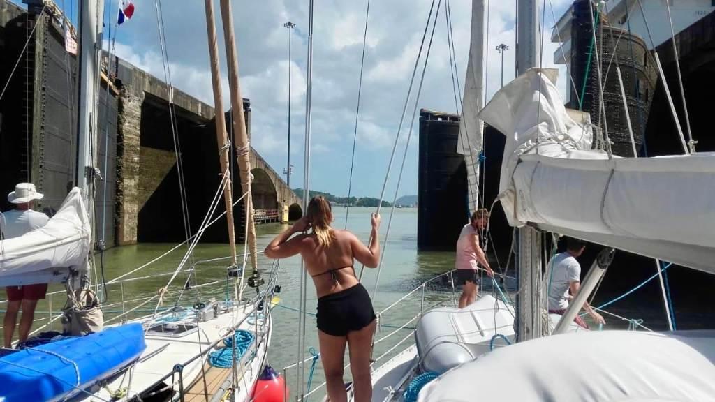 Gratis meevaren op het zeilschip
