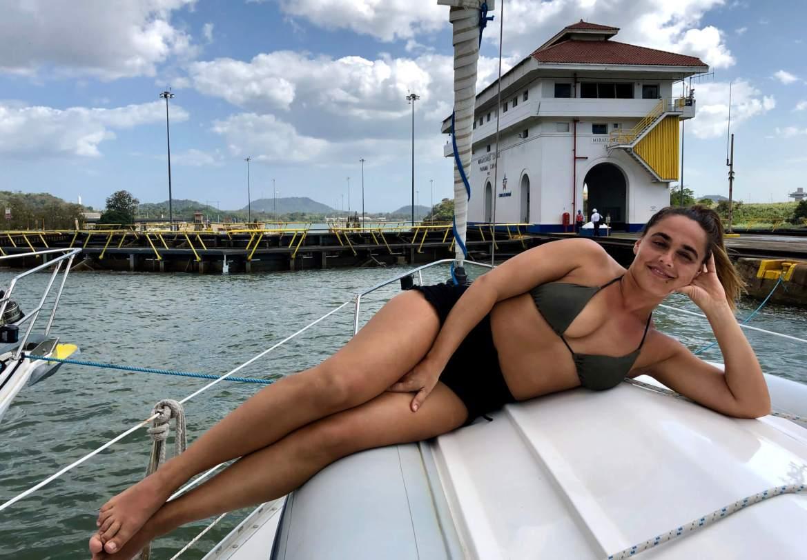Meevaren op een zeilschip door het Panamakanaal