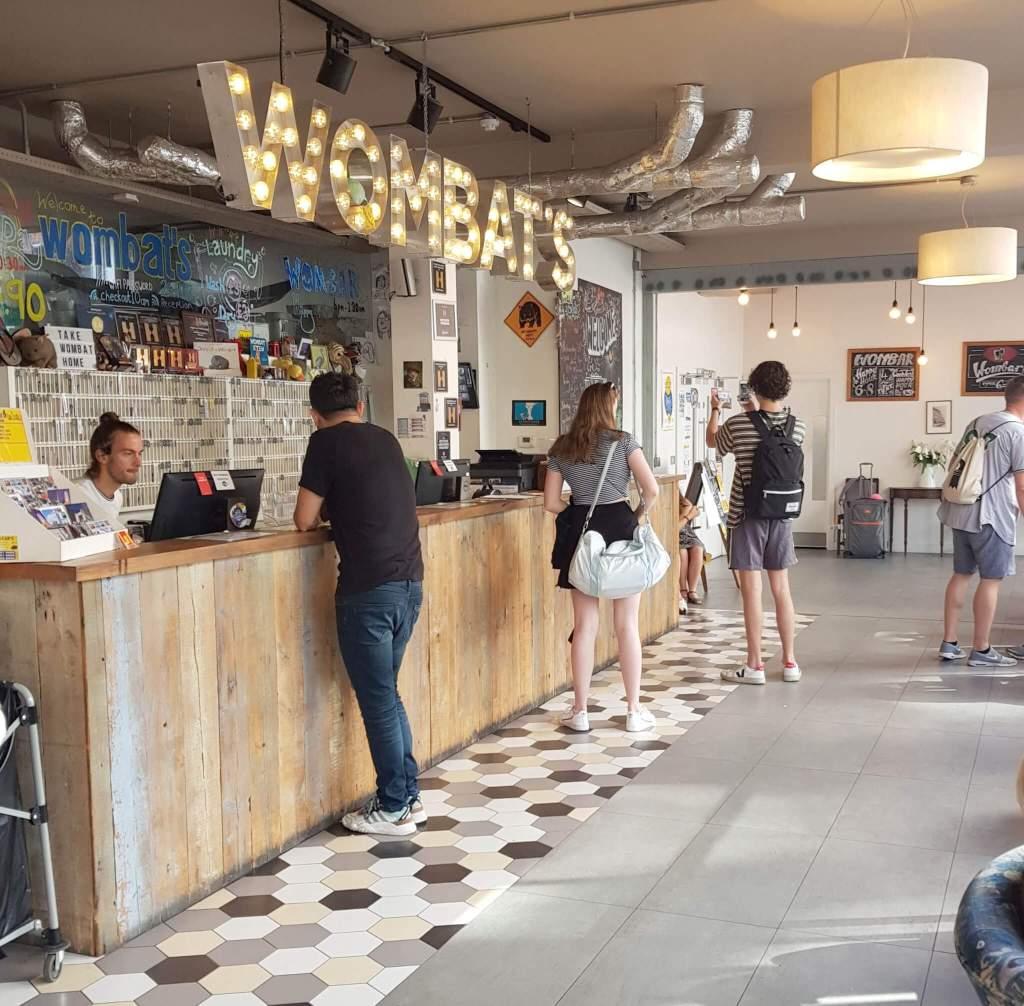 Wombat's hostel in Londen