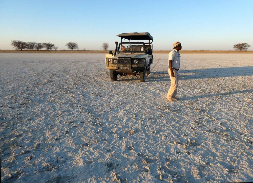Zoutvlakte in Botswana