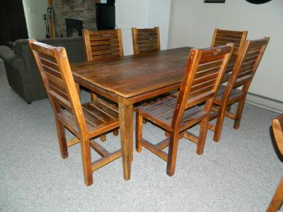 Barnwood Dining Table with Chairs