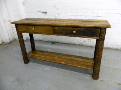 BARN WOOD HICKORY CONSOLE