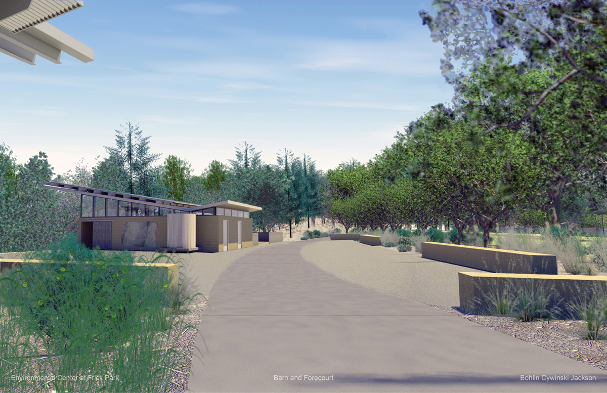 Artist renderings of the new Frick Environmental Center in Pittsburgh. Photo: Pittsburgh Parks Conservancy