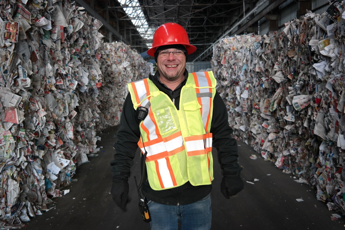 Russell Holby is the guy who makes sure the contents of your recycling bin get unjumbled and turned back into usable materials. Photo: Lou Blouin