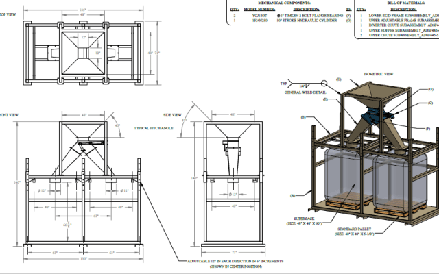 Systems Engineering Drawing for Bulk Bag Fill System