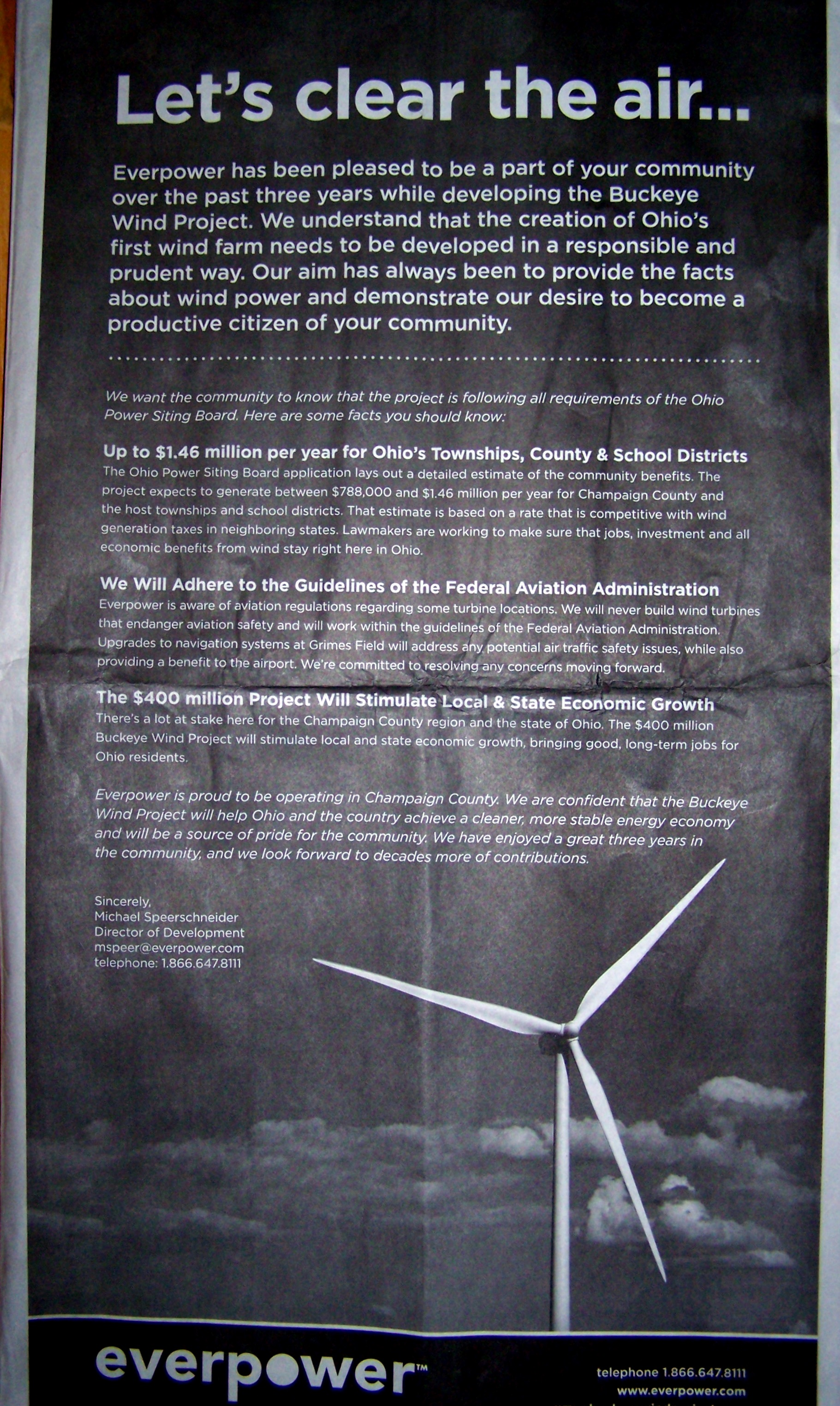 Cost of Wind Plant Poster