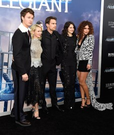 "NEW YORK, NY - MARCH 14: Ansel Elgort, Naomi Watts, Theo James, Shailene Woodley and Nadia Hilker attend ""Allegiant"" New York premiere at AMC Loews Lincoln Square 13 theater on March 14, 2016 in New York City. (Photo by Kevin Mazur/WireImage)"