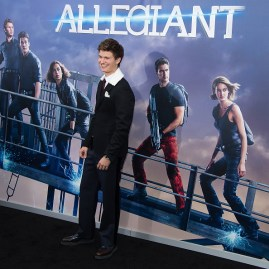 "NEW YORK, NY - MARCH 14: Actor Ansel Elgort attends the ""Allegiant"" New York premiere at AMC Lincoln Square Theater on March 14, 2016 in New York City. (Photo by Michael Stewart/Getty Images)"