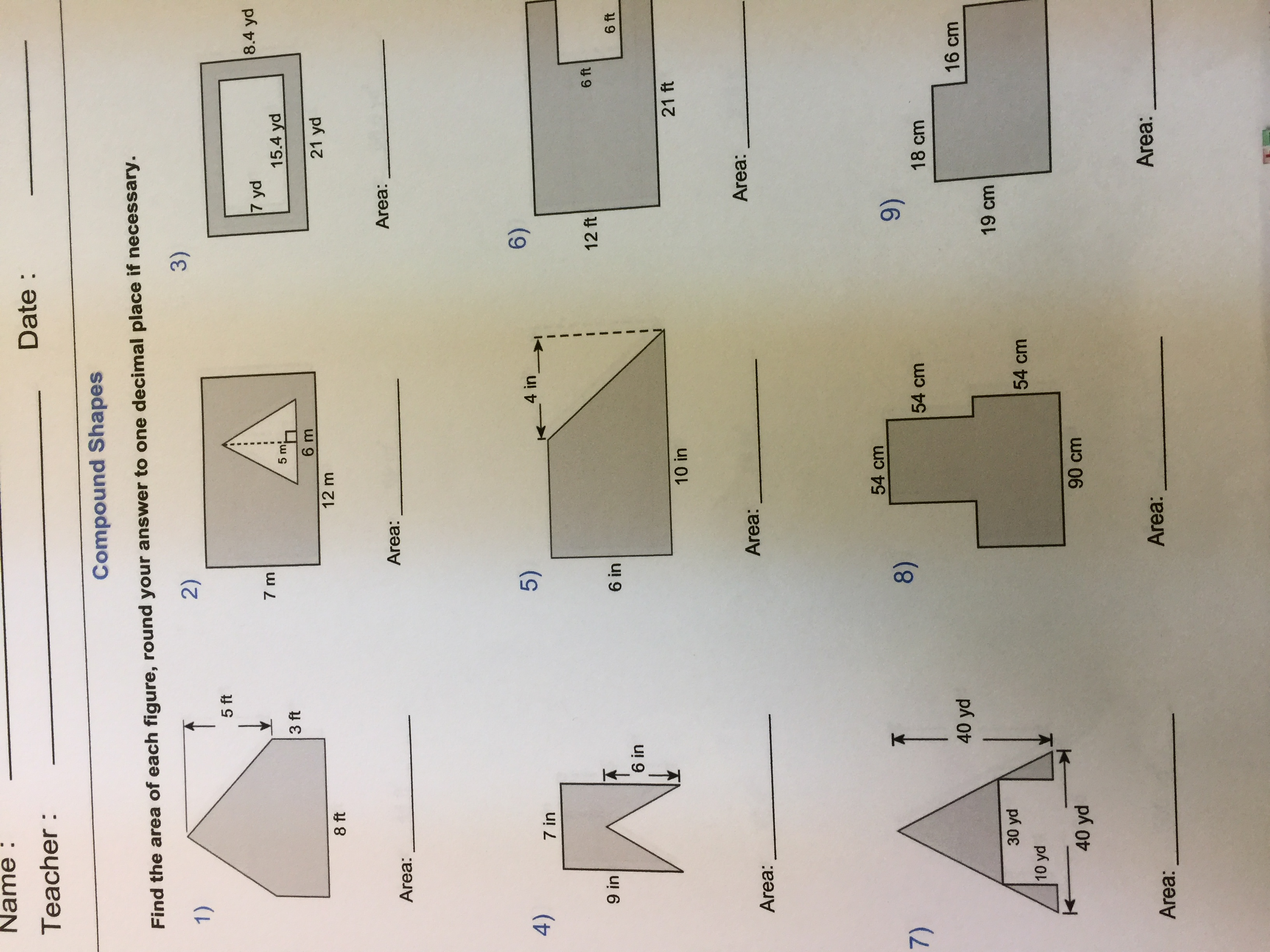 Area Parallelogram Worksheet With Answers