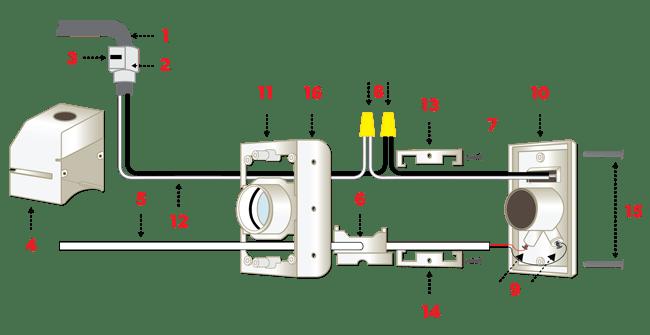 Central Vacuum Power Inlet Valve