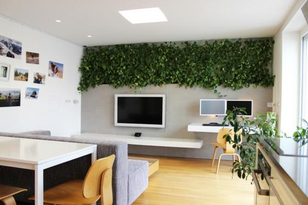 LED Lichter Und Eine Lebende Wand Frben Eine