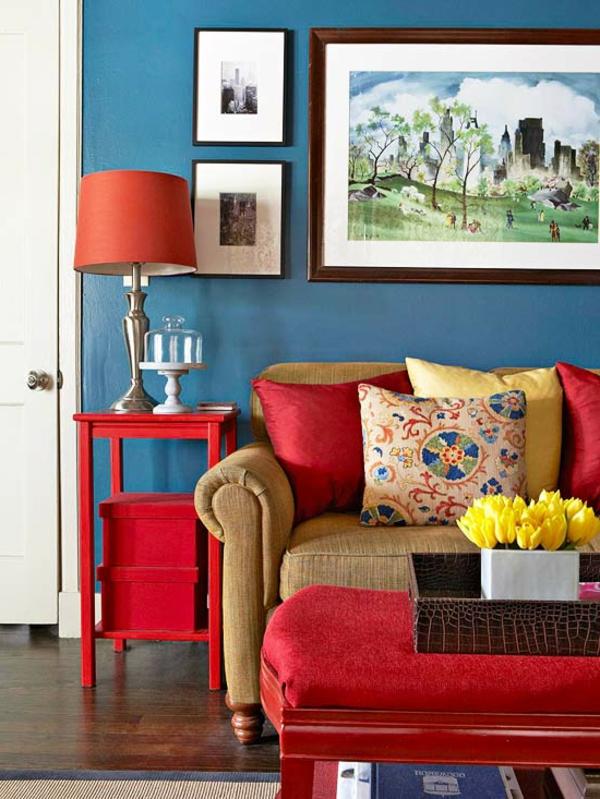Blaue Farbpalette Fr Das Interior Ihrer Wohnung
