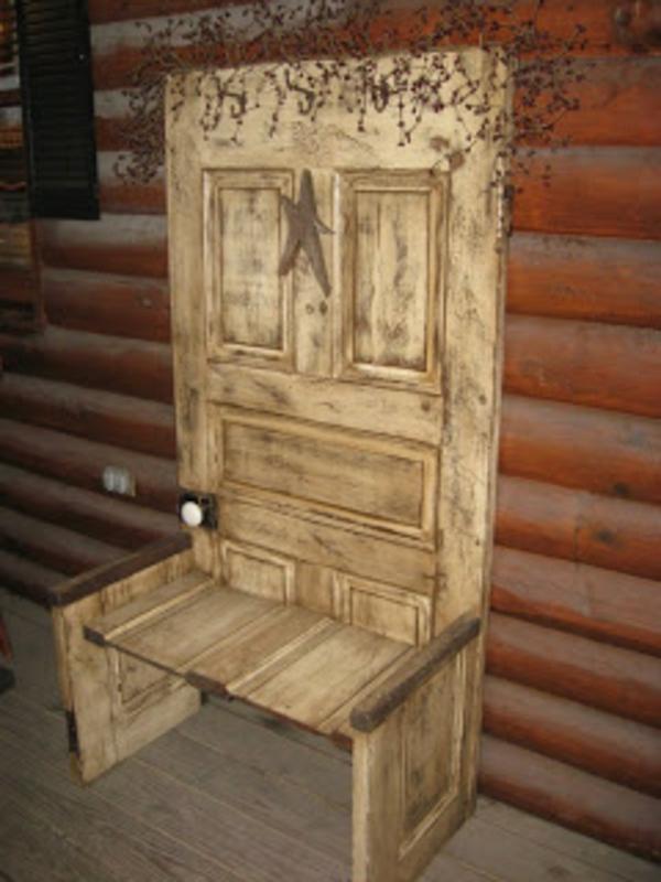 ▷ 20 Ideen für handgemachte Möbel und Dekorationen aus alten Türen