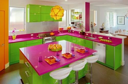 Farbgestaltung In Der Kche Bunte Ideen Fr Mehr Spa
