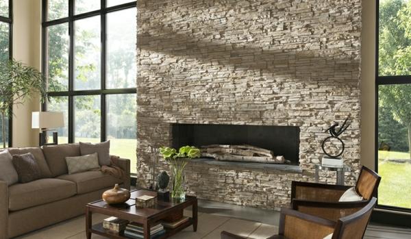Wohnzimmer mit natursteinwand nxsone45 - Natursteinwand wohnzimmer ...