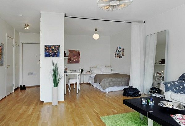 ▷ Einzimmerwohnung einrichten - tolle und praktische Einrichtungstipps