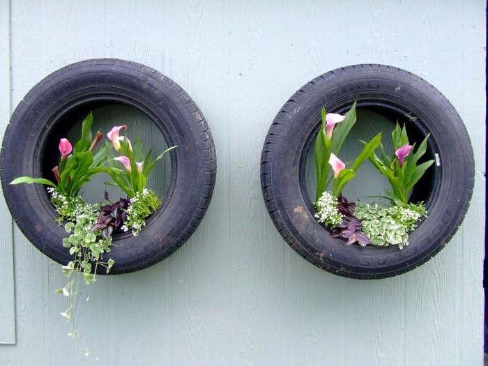 ▷ Pflanzenkübel aus Autoreifen selber machen: 28 kreative Ideen!