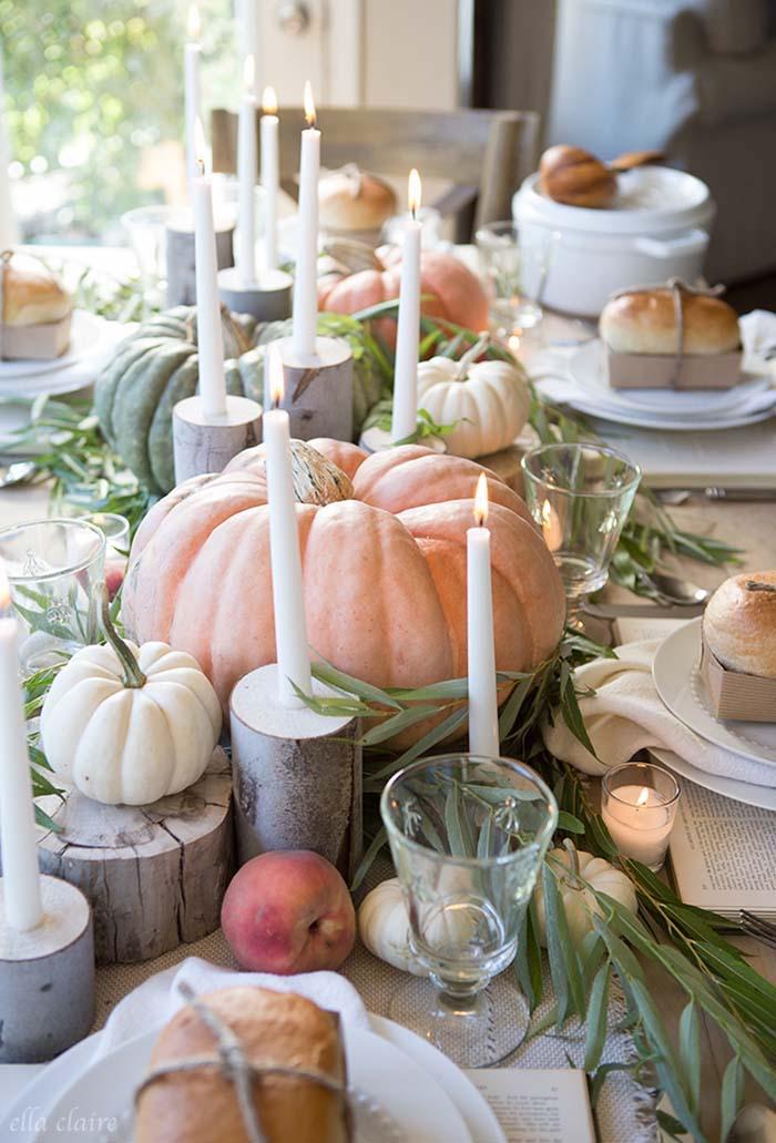 Herbst Tischdeko Die Natur Zum Tisch Bitten