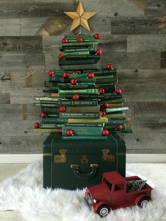 Weihnachtsbaum Aus Bchern Selber Basteln