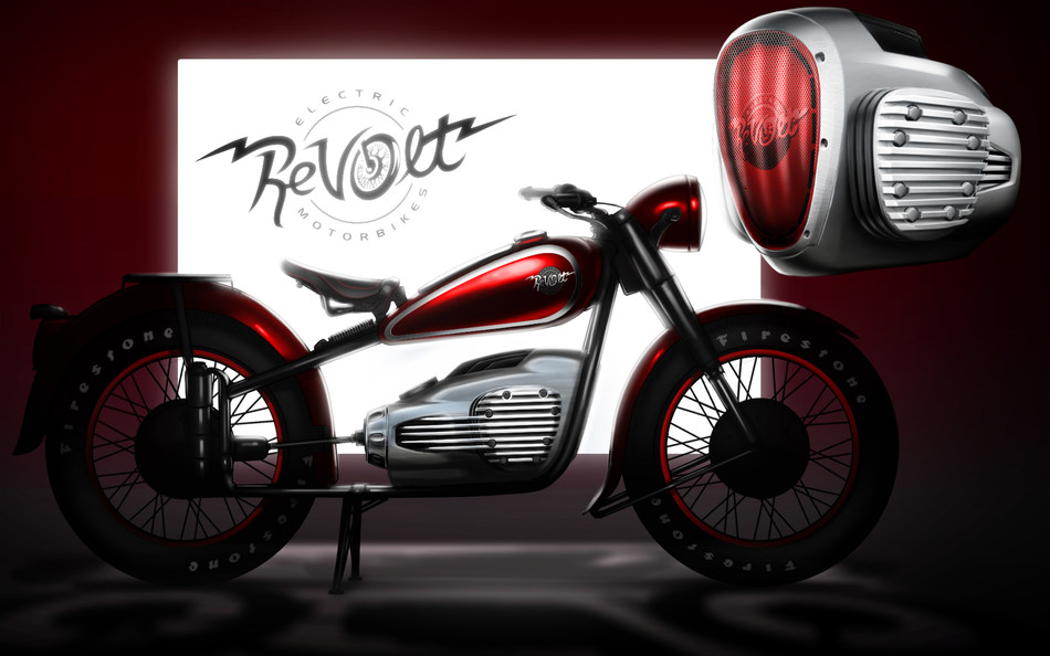 Retro ReVolt BMW R71 Electric motorcycle