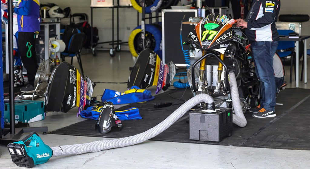 Energica MotoE  Dry Ice cooling system Electric motorcycle