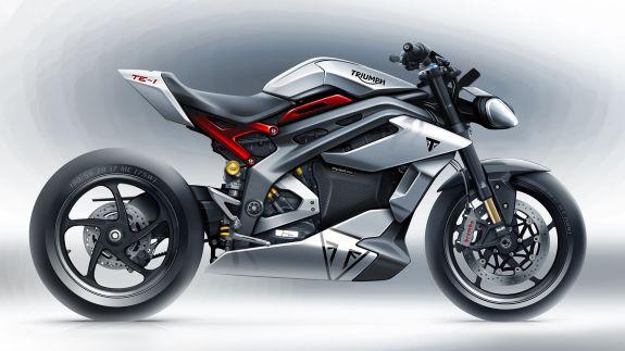 Triumph TE1 electric motorcycle