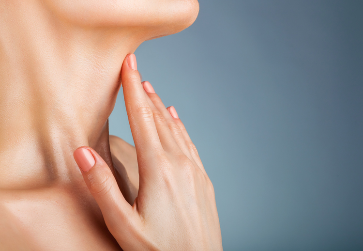 Image of a woman's beautiful neck