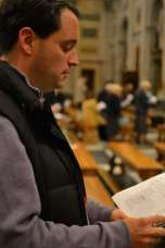 Public Evening Prayer with the Benedictine monks in the Papal Basilica of Saint Paul