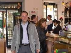 Morning at the Caffe Santos Bar