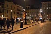 Walking along the Piazza Navona