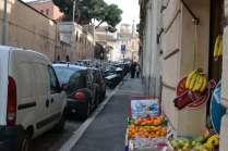 Walking up Via di San Giovanni in Laterano