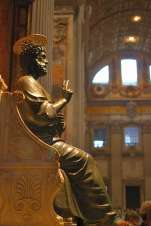 Statue of Saint Peter at St. Peter's Basilica